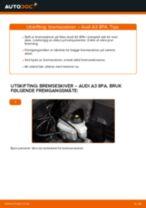 Skifte Holder, stabilisatorlagring: pdf instruksjoner for AUDI A3