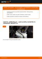 Vaihda AUDI Takajarrupalat ja etujarrupalat itse - käsikirja verkossa