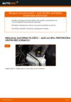 Kako zamenjati avtodel zavorne ploščice zadaj na avtu Audi A3 8PA – vodnik menjave