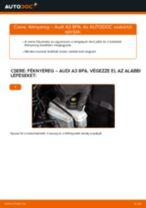 Hogyan cseréje és állítsuk be Fékdob AUDI A3: pdf útmutató