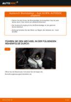 AUDI A3 Sportback (8PA) Bremsbelagsatz Scheibenbremse ersetzen - Tipps und Tricks