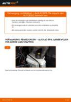 Remblokken veranderen AUDI A3: werkplaatshandboek