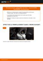 Comment changer : plaquettes de frein avant sur Audi A3 8PA - Guide de remplacement
