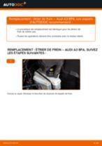 Comment changer : étrier de frein arrière sur Audi A3 8PA - Guide de remplacement