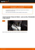 Cambio Pinze freni posteriore e anteriore AUDI da soli - manuale online pdf