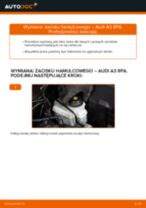 Jak wymienić zacisku hamulcowego przód w Audi A3 8PA - poradnik naprawy