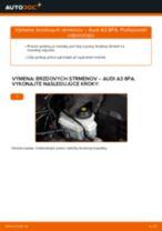 Ako vymeniť predné brzdový strmeň na Audi A3 8PA – návod na výmenu