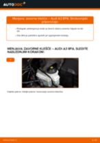 Kako zamenjati avtodel zavorne klešče spredaj na avtu Audi A3 8PA – vodnik menjave