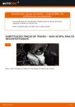 Como mudar pinças de travão da parte dianteira em Audi A3 8PA - guia de substituição