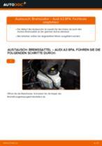 AUDI A3 Sportback (8PA) Axialgelenk: Schrittweises Handbuch im PDF-Format zum Wechsel