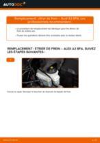 Comment changer : étrier de frein avant sur Audi A3 8PA - Guide de remplacement