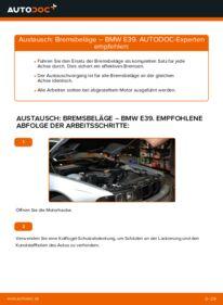 Wie der Wechsel durchführt wird: Bremsbeläge BMW E39 523i 2.5 530d 3.0 528i 2.8 tauschen