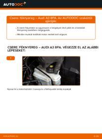 Hogyan végezze a cserét: AUDI A3 Féknyereg