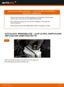 Wie der Wechsel durchführt wird: Bremsbeläge 2.0 TDI 16V Audi A3 8pa tauschen
