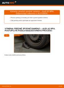 Ako vykonať výmenu: Rameno Zavesenia Kolies na 2.0 TDI 16V Audi A3 8pa