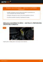 Avtomehanična priporočil za zamenjavo VW Polo 9n 1.2 12V Zavorne Ploščice