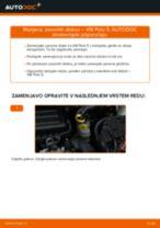 Vgraditi Zavorni kolut VW POLO Saloon - priročniki po korakih