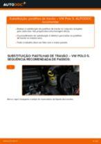 Como mudar pastilhas de travão da parte dianteira em VW Polo 5 - guia de substituição