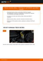 VW aizmugurē un priekšā Bremžu diski nomaiņa dari-to-pats - tiešsaistes instrukcijas pdf