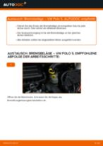 VW Bremsbelagsatz hinten + vorne selber austauschen - Online-Bedienungsanleitung PDF