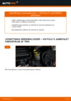 Skifte Bremseklodser VW POLO: værkstedshåndbog