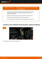 Kuinka vaihtaa jarrulevyt eteen VW Polo 5-autoon – vaihto-ohje