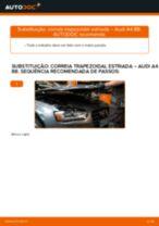 Como mudar correia trapezoidal estriada em Audi A4 B8 - guia de substituição