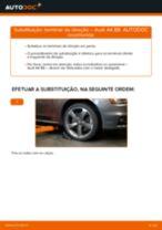 Como mudar terminal de direção em Audi A4 B8 - guia de substituição