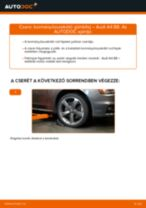 Kormányösszekötő gömbfej-csere Audi A4 B8 gépkocsin – Útmutató