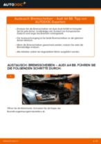 Empfehlungen des Automechanikers zum Wechsel von AUDI Audi A4 B5 Avant 1.8 Bremsscheiben