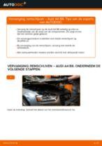 AUDI A4 stapsgewijze handleidingen over onderhoud