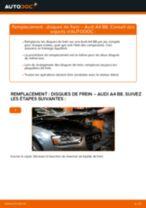 Comment changer : disques de frein avant sur Audi A4 B8 - Guide de remplacement