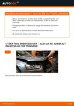 Slik bytter du bremseskiver bak på en Audi A4 B8 – veiledning