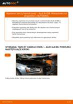 Jak wymienić tarcze hamulcowe przód w Audi A4 B8 - poradnik naprawy