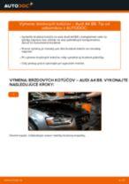 Vymeniť Brzdový kotouč na aute AUDI A4 (8K2, B8) - tipy a triky