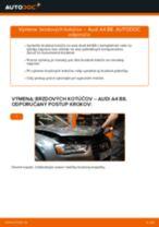 Výmena Brzdový kotouč AUDI A4: dielenská príručka