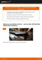 Spletni priročnik kako zamenjati Zavorni kolut na AUDI A4 (8K2, B8)