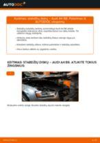 Kaip pakeisti Audi A4 B8 stabdžių diskų: priekis - keitimo instrukcija