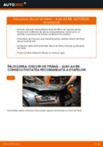 Schimbare Discuri frana spate si față AUDI A4: online ghidul