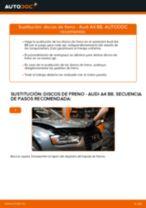 Cómo cambiar: discos de freno de la parte trasera - Audi A4 B8 | Guía de sustitución