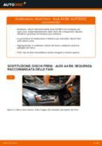 Come cambiare dischi freno della parte posteriore su Audi A4 B8 - Guida alla sostituzione