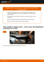 Auto mechanic's recommendations on replacing AUDI Audi A4 b7 2.0 TDI 16V Brake Pads