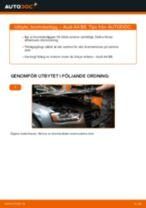 Byta Bromsbeläggssats skivbroms AUDI A4: gratis pdf