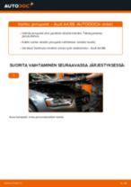 Ilmaiset ohjeet verkossa kuinka vaihtaa Takajarrupalat ja etujarrupalat AUDI A4 (8K2, B8)