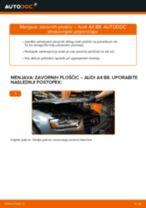 Menjava spredaj in zadaj Zavorne Ploščice AUDI A4 (8K2, B8): vodič pdf