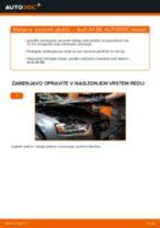 Kdaj zamenjati Zavorne Ploščice AUDI A4 (8K2, B8): pdf navodila