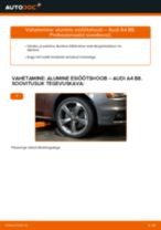 Kuidas vahetada Audi A4 B8 alumine esiõõtshoob – õpetus