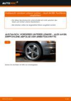 Lenker Radaufhängung unten vorne/hinten auswechseln: Online-Handbuch für AUDI A4