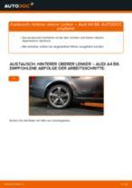 Wie Audi A4 B8 hinterer oberer Lenker wechseln - Anleitung