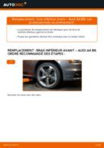 Comment changer : bras inférieur avant sur Audi A4 B8 - Guide de remplacement
